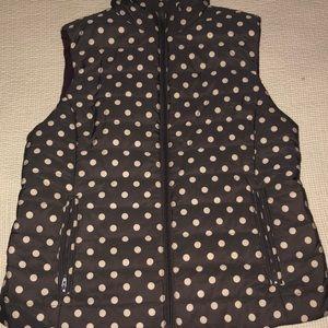 Purple vest with polka dots